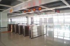 Σταθμός μετρό Shajiang της γραμμής 11 μετρό Shenzhen Στοκ εικόνες με δικαίωμα ελεύθερης χρήσης