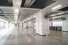 Σταθμός μετρό Shajiang της γραμμής 11 μετρό Shenzhen Στοκ φωτογραφίες με δικαίωμα ελεύθερης χρήσης