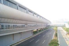 Σταθμός μετρό Shajiang της γραμμής 11 μετρό Shenzhen Στοκ Φωτογραφία