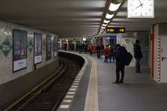 Σταθμός μετρό U2 των γραμμών - Potsdamer Platz Στοκ φωτογραφίες με δικαίωμα ελεύθερης χρήσης
