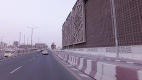 Σταθμός μονοτρόχιων σιδηροδρόμων Jumeirah φοινικών στο τεχνητό βίντεο μήκους σε πόδηα αποθεμάτων Jumeirah φοινικών αρχιπελαγών φιλμ μικρού μήκους