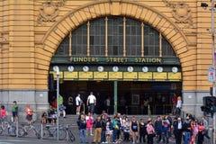 Σταθμός οδών Flinders - Μελβούρνη Στοκ εικόνα με δικαίωμα ελεύθερης χρήσης