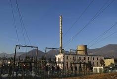 σταθμός παραγωγής ηλεκτρικού ρεύματος θερμικός Στοκ Εικόνες
