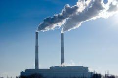 σταθμός παραγωγής ηλεκτρικού ρεύματος Στοκ Φωτογραφίες