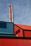 σταθμός παραγωγής ηλεκτρικού ρεύματος geo θερμικός Στοκ Εικόνες