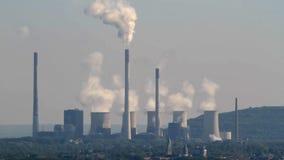 Σταθμός παραγωγής ηλεκτρικού ρεύματος Scholven απόθεμα βίντεο