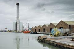 Σταθμός παραγωγής ηλεκτρικού ρεύματος Shoreham και λιμάνι Στοκ Εικόνα