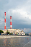 Σταθμός παραγωγής ηλεκτρικού ρεύματος TETs - 12 όψη ποταμών της Μόσχας Στοκ Εικόνες