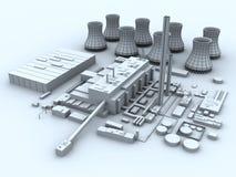 σταθμός παραγωγής ηλεκτ&r διανυσματική απεικόνιση