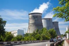 σταθμός παραγωγής ηλεκτρικού ρεύματος βιομηχανίας οικολογίας θερμικός Στοκ Φωτογραφίες