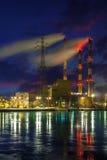 Σταθμός παραγωγής ηλεκτρικού ρεύματος θερμότητας Στοκ Εικόνες