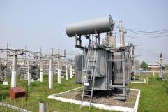Σταθμός παραγωγής ηλεκτρικού ρεύματος ηλεκτρικής ενέργειας Στοκ Εικόνες