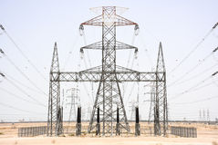 Σταθμός παραγωγής ηλεκτρικού ρεύματος στο Κουβέιτ Στοκ φωτογραφίες με δικαίωμα ελεύθερης χρήσης
