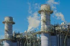 Σταθμός παραγωγής ηλεκτρικού ρεύματος φυσικού αερίου Στοκ Εικόνες