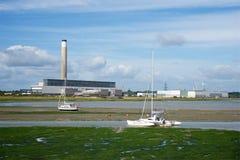 Σταθμός παραγωγής ηλεκτρικού ρεύματος Fawley Χάμπσαϊρ UK Στοκ φωτογραφία με δικαίωμα ελεύθερης χρήσης