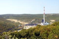 Σταθμός παραγωγής ηλεκτρικού ρεύματος Plomin - Κροατία Στοκ εικόνα με δικαίωμα ελεύθερης χρήσης