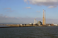 Σταθμός παραγωγής ηλεκτρικού ρεύματος, Poolbeg, Δουβλίνο Στοκ φωτογραφία με δικαίωμα ελεύθερης χρήσης