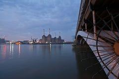 σταθμός παραγωγής ηλεκτ&r Στοκ Φωτογραφίες