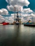 Σταθμός πετρελαίου Στοκ Εικόνα