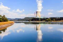Σταθμός πυρηνικής ενέργειας σε Leibstadt, Ελβετία Στοκ Φωτογραφία