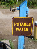 Σταθμός πόσιμου νερού σε ένα Campground Στοκ Εικόνα