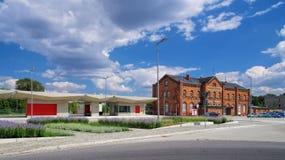 Σταθμός ραγών Spremberg Στοκ φωτογραφία με δικαίωμα ελεύθερης χρήσης
