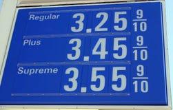 σταθμός σημαδιών αερίου στοκ εικόνες