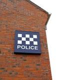 σταθμός σημαδιών αστυνομίας Στοκ Φωτογραφία