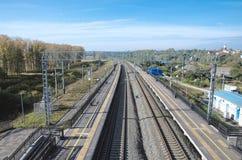 Σταθμός σιδηροδρόμου Bogolyubovo Στοκ φωτογραφίες με δικαίωμα ελεύθερης χρήσης