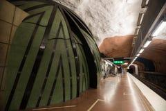 Σταθμός Στοκχόλμη μετρό Σουηδία 08 11 2015 Στοκ Εικόνα
