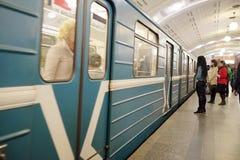 Σταθμός της βιβλιοθήκης Λένιν μετρό της Μόσχας Στοκ Φωτογραφία