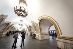 σταθμός της Μόσχας Ρωσία μ&epsil στοκ εικόνες