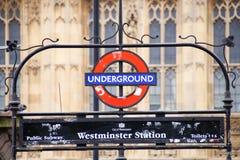 Σταθμός του Γουέστμινστερ Μετρό του Λονδίνου στοκ φωτογραφία με δικαίωμα ελεύθερης χρήσης
