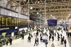 Σταθμός του Λονδίνου Βατερλώ Στοκ Εικόνα