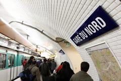 σταθμός του Παρισιού μετ&r Στοκ Εικόνες