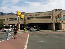 Σταθμός του Newark Penn, σταθμός της Πενσυλβανίας, NJ, ΗΠΑ στοκ εικόνες