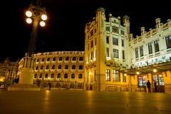 Σταθμός τρένου και Plaza de toros, Ισπανία της Βαλένθια Στοκ Φωτογραφία