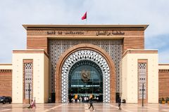 Σταθμός τρένου Μαρακές, Μαρόκο Gare de Μαρακές Στοκ Εικόνες