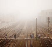 Σταθμός τρένου με τον επιβάτη στοκ εικόνες με δικαίωμα ελεύθερης χρήσης