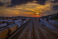 Σταθμός τρένου οδών του Thomas Στοκ φωτογραφία με δικαίωμα ελεύθερης χρήσης