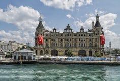 Σταθμός τρένου που είναι ορόσημο συμβόλων της Ιστανμπούλ στην Τουρκία Στοκ φωτογραφία με δικαίωμα ελεύθερης χρήσης