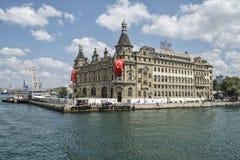 Σταθμός τρένου που είναι ορόσημο συμβόλων της Ιστανμπούλ στην Τουρκία Στοκ Εικόνα