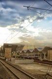 Σταθμός τρένου σε Εσκί Σεχίρ Στοκ Εικόνα
