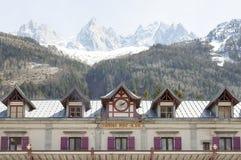 Σταθμός τρένου σε Chamonix Mont Blanc Στοκ Φωτογραφία