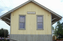 Σταθμός τρένου σε Herndon, κομητεία του Φέρφαξ, VA Στοκ φωτογραφία με δικαίωμα ελεύθερης χρήσης