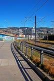 Σταθμός τρένου σε Valparaiso, Χιλή στοκ εικόνα