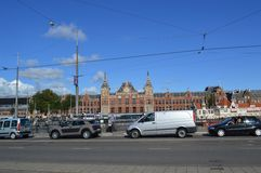 Σταθμός τρένου στο Άμστερνταμ στοκ φωτογραφία