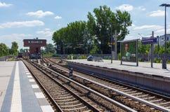 σταθμός τρένου στο Βερολίνο Στοκ Φωτογραφίες