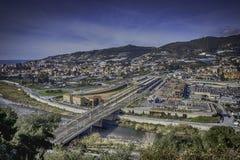 Σταθμός τρένου arma-Taggia στοκ εικόνες με δικαίωμα ελεύθερης χρήσης