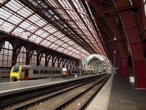 Σταθμός τρένου Centraal Antwerpen Στοκ Εικόνες
